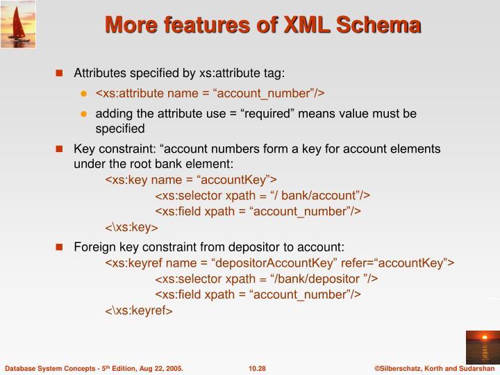 More features of XML Schema