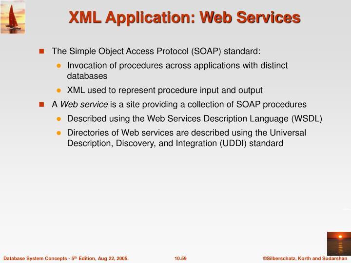 XML Application: Web Services