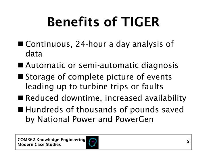 Benefits of TIGER