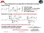 hires richardson lucy algorithm for redundant coverage