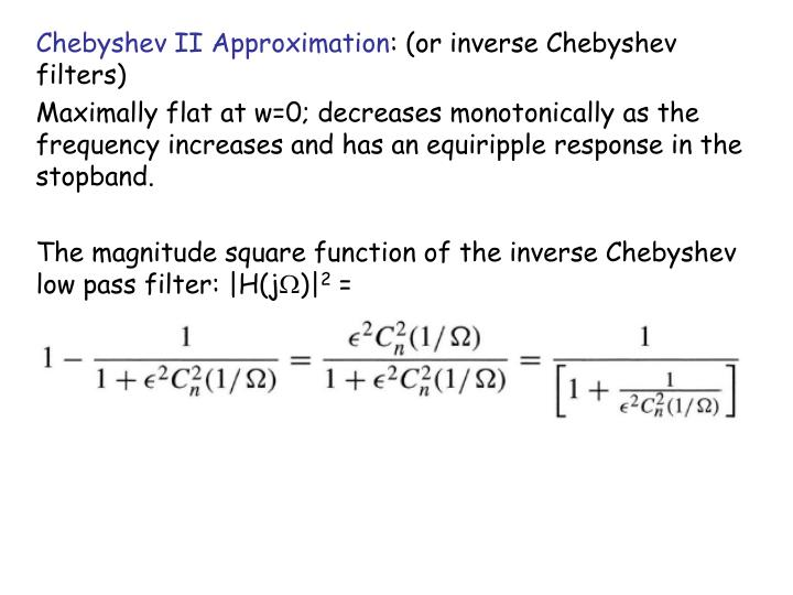 Chebyshev II Approximation