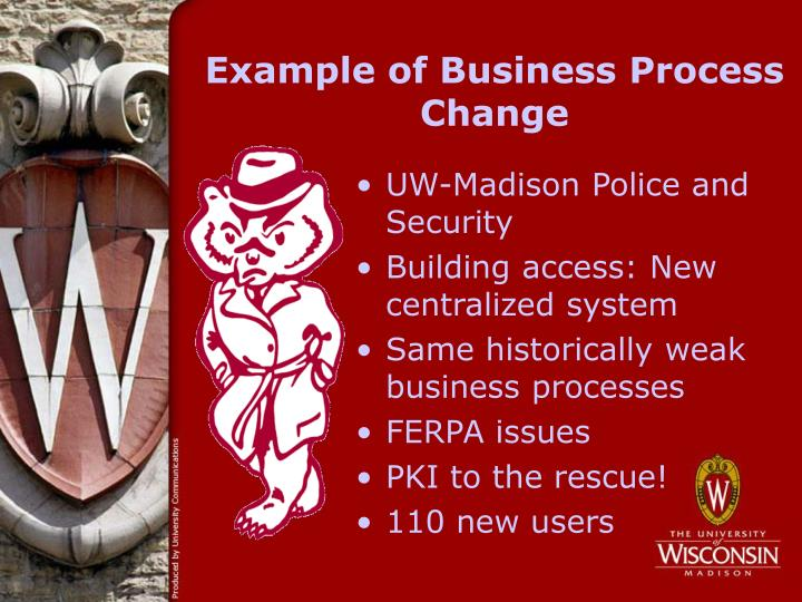 Example of Business Process Change