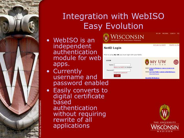 Integration with WebISO