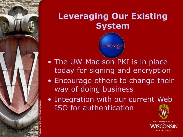 Leveraging Our Existing System