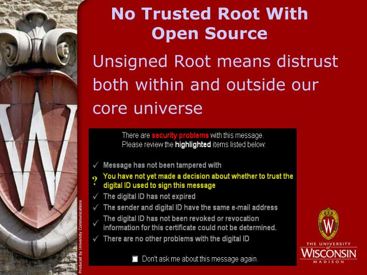 No Trusted Root With Open Source