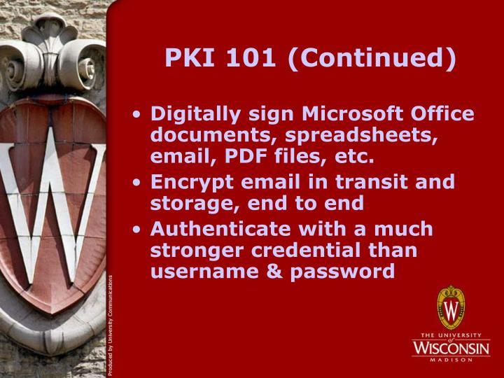 PKI 101 (Continued)
