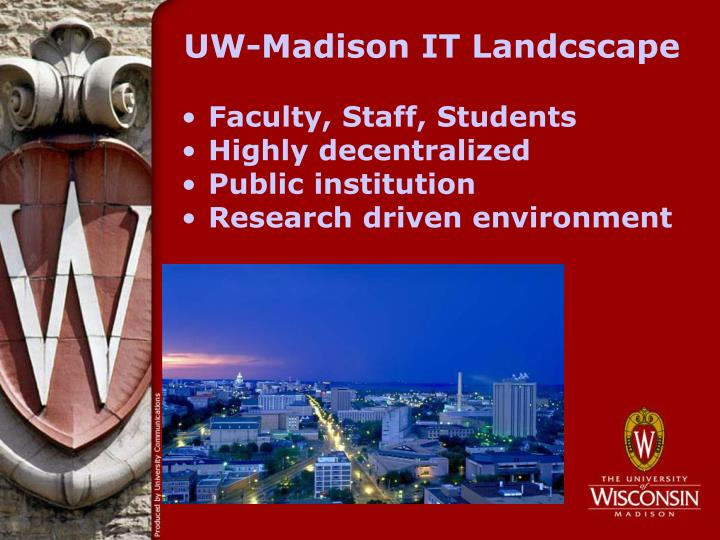 UW-Madison IT Landcscape