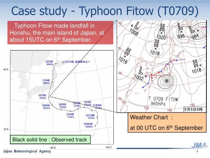 Case study - Typhoon Fitow (T0709)