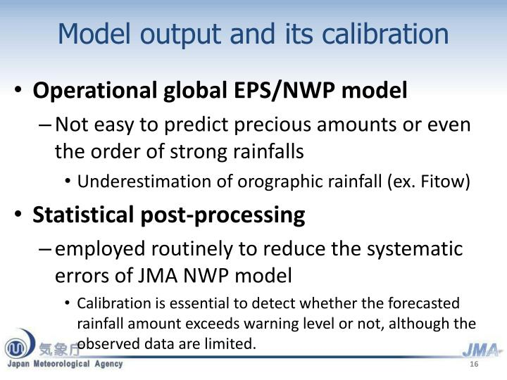 Model output and its calibration