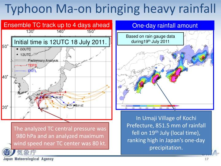 Typhoon Ma-on bringing heavy rainfall