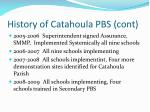 history of catahoula pbs cont