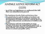 juvenile justice reform act 1225