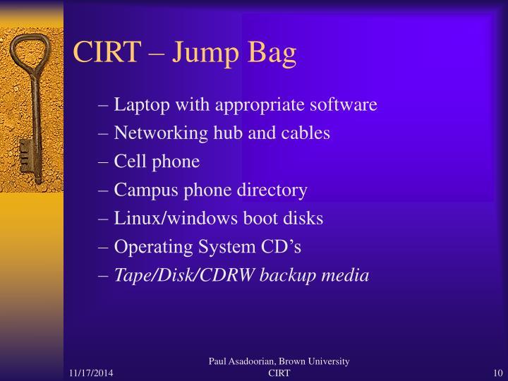 CIRT – Jump Bag