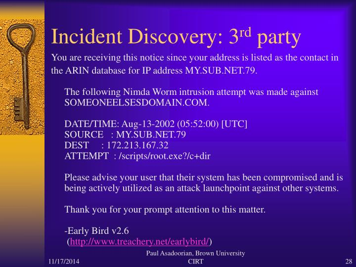 Incident Discovery: 3