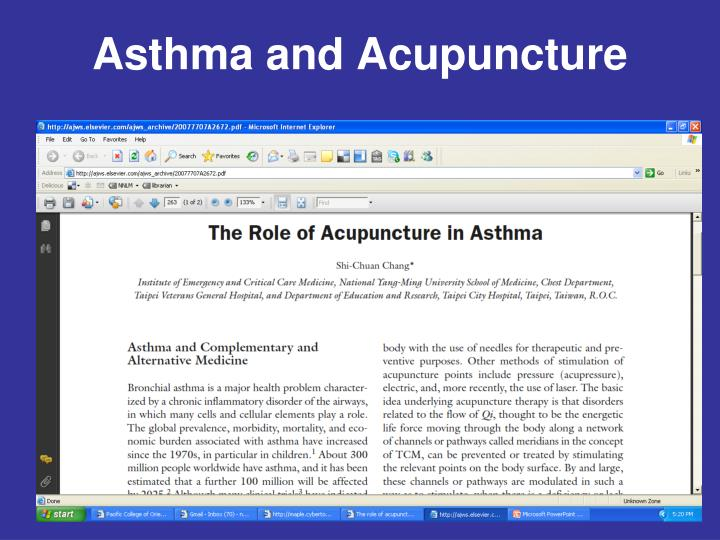 Asthma and Acupuncture