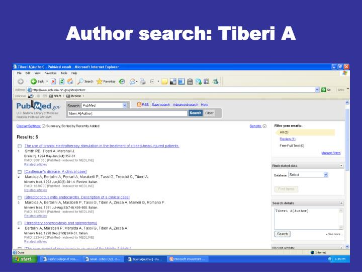 Author search: Tiberi A