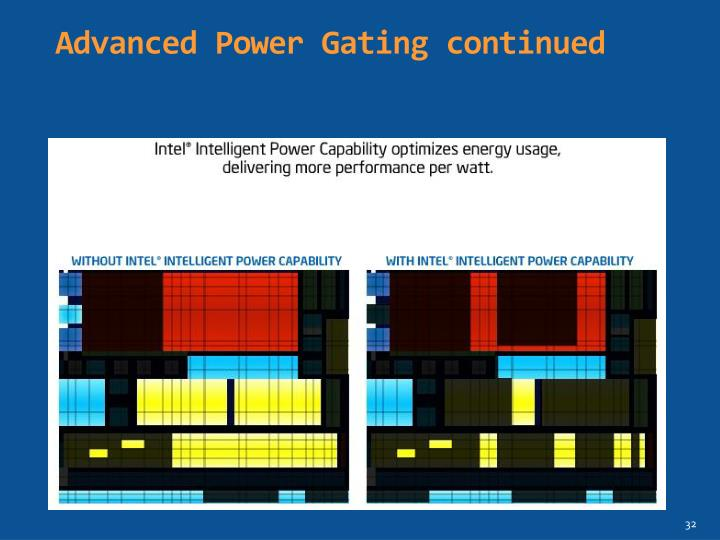 Advanced Power Gating continued