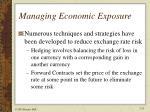 managing economic exposure1