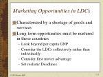marketing opportunities in ldcs