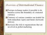 overview of international finance