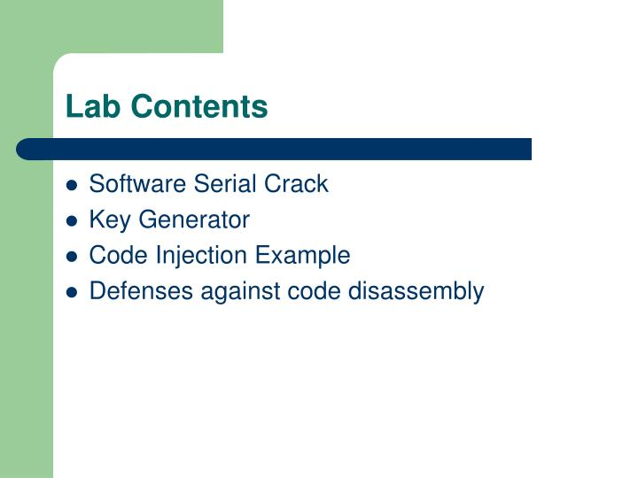 Lab Contents