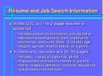 r sum and job search information