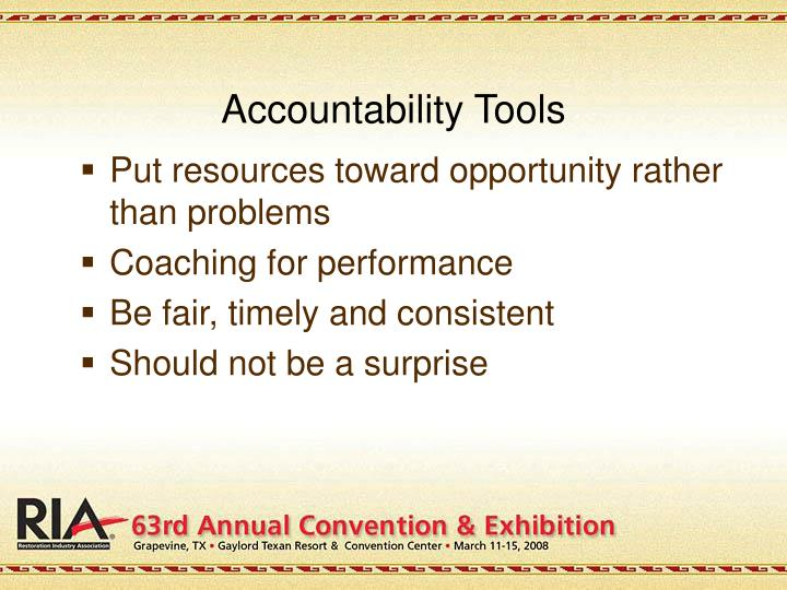 Accountability Tools