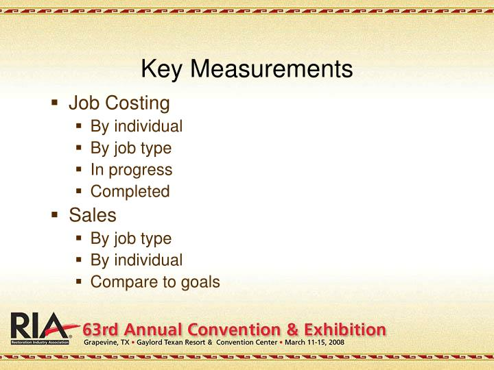 Key Measurements