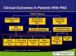 clinical outcomes in patients with pad1