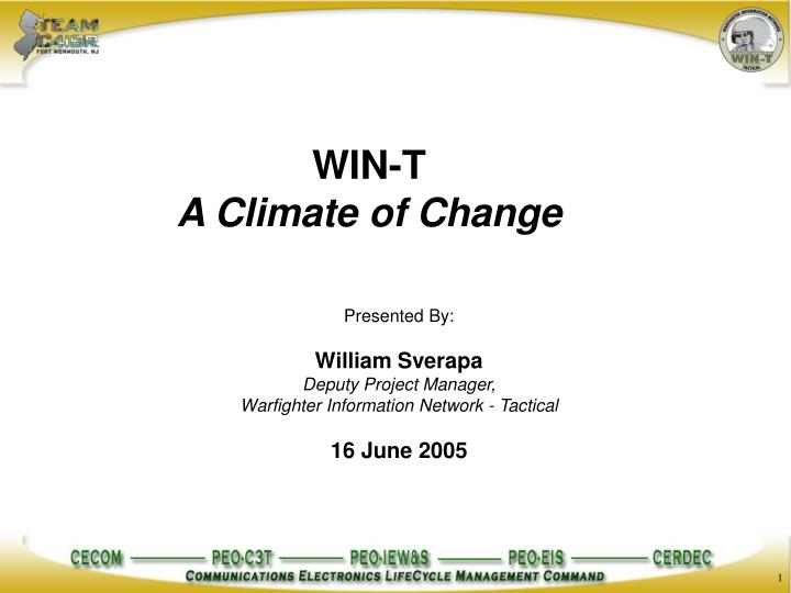 win t a climate of change