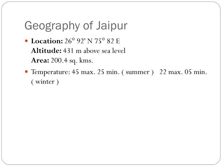 Geography of jaipur