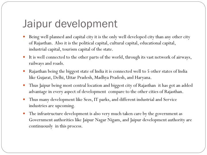 Jaipur development
