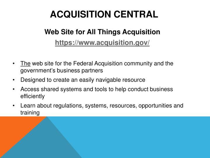 Acquisition Central
