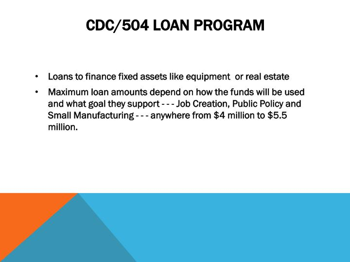 CDC/504 Loan Program