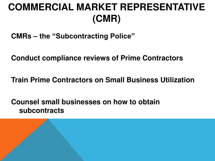 Commercial Market Representative
