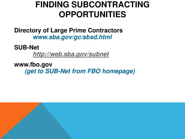 Finding Subcontracting
