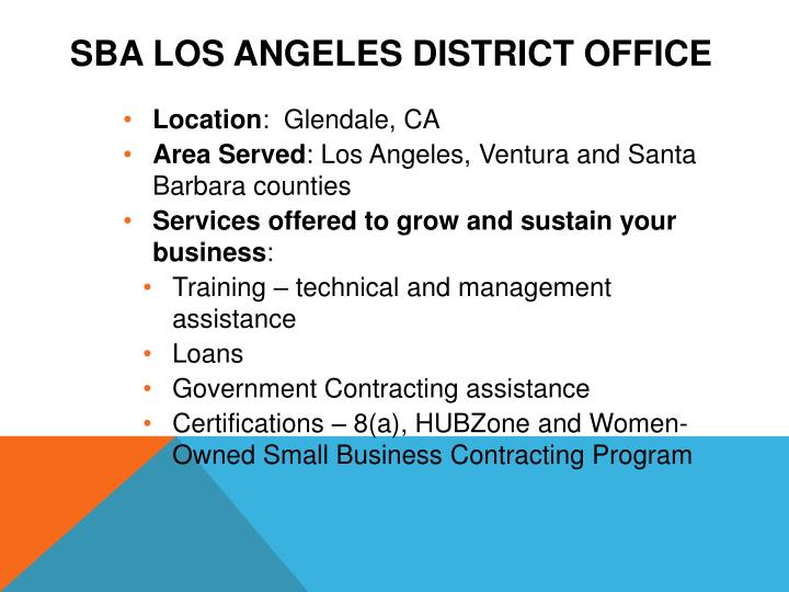 Sba los angeles district office