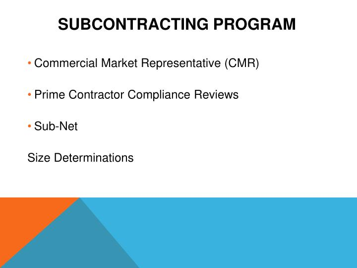 Subcontracting Program