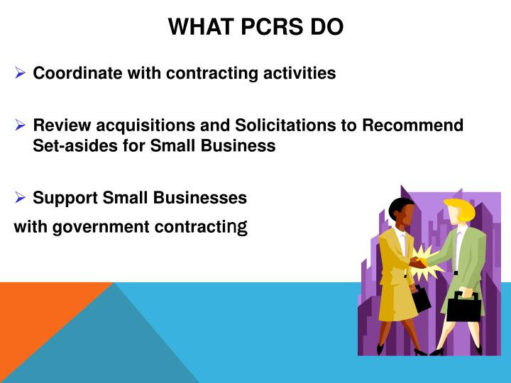 What PCRs Do