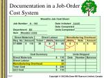 documentation in a job order cost system10