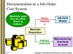 documentation in a job order cost system11