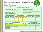 documentation in a job order cost system8