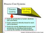 process cost systems