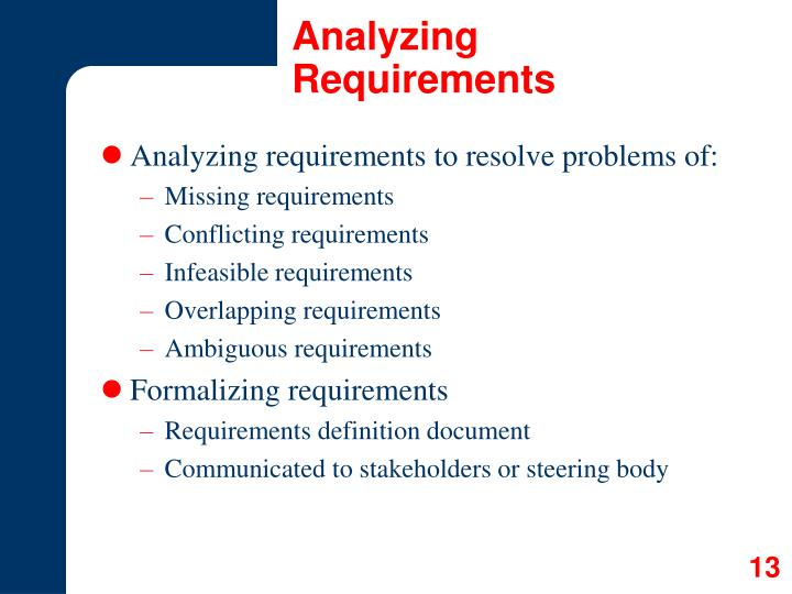 Analyzing Requirements