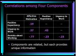 correlations among four components