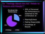 do feelings about the job relate to actions and results1
