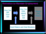 motivation to maintain employment10