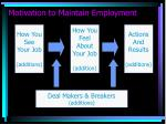 motivation to maintain employment11