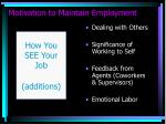 motivation to maintain employment12
