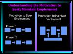 understanding the motivation to seek maintain employment